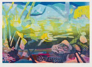 ein Farblinolschnitt von Gabriele Sperlich